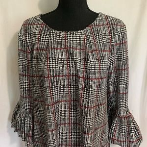 Nina Leonard houndstooth print dress NWT
